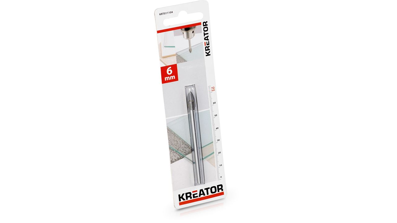 KRT011104 TILE/GLASS DRILL 6x72mm