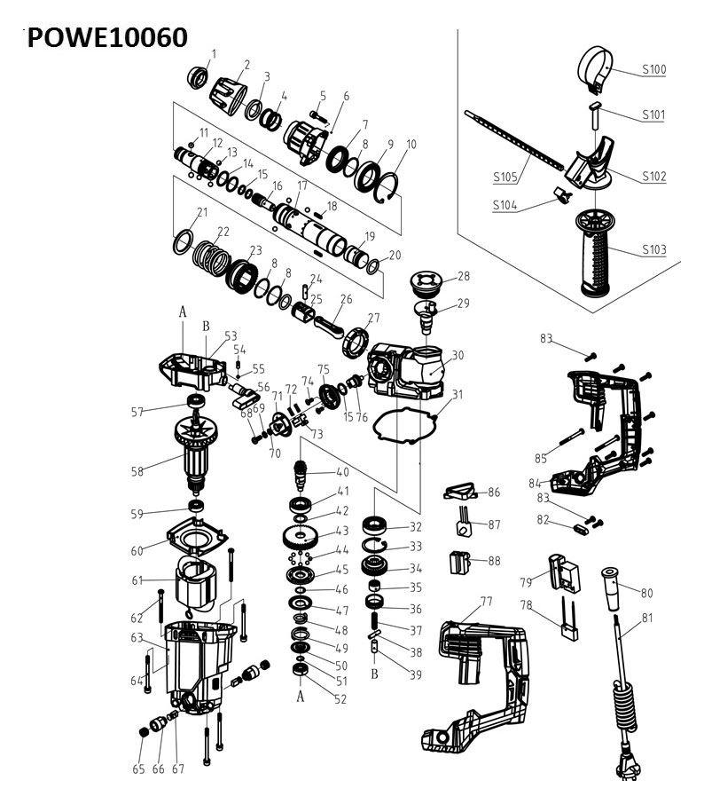 Powe10060 Hammer Drill 900w