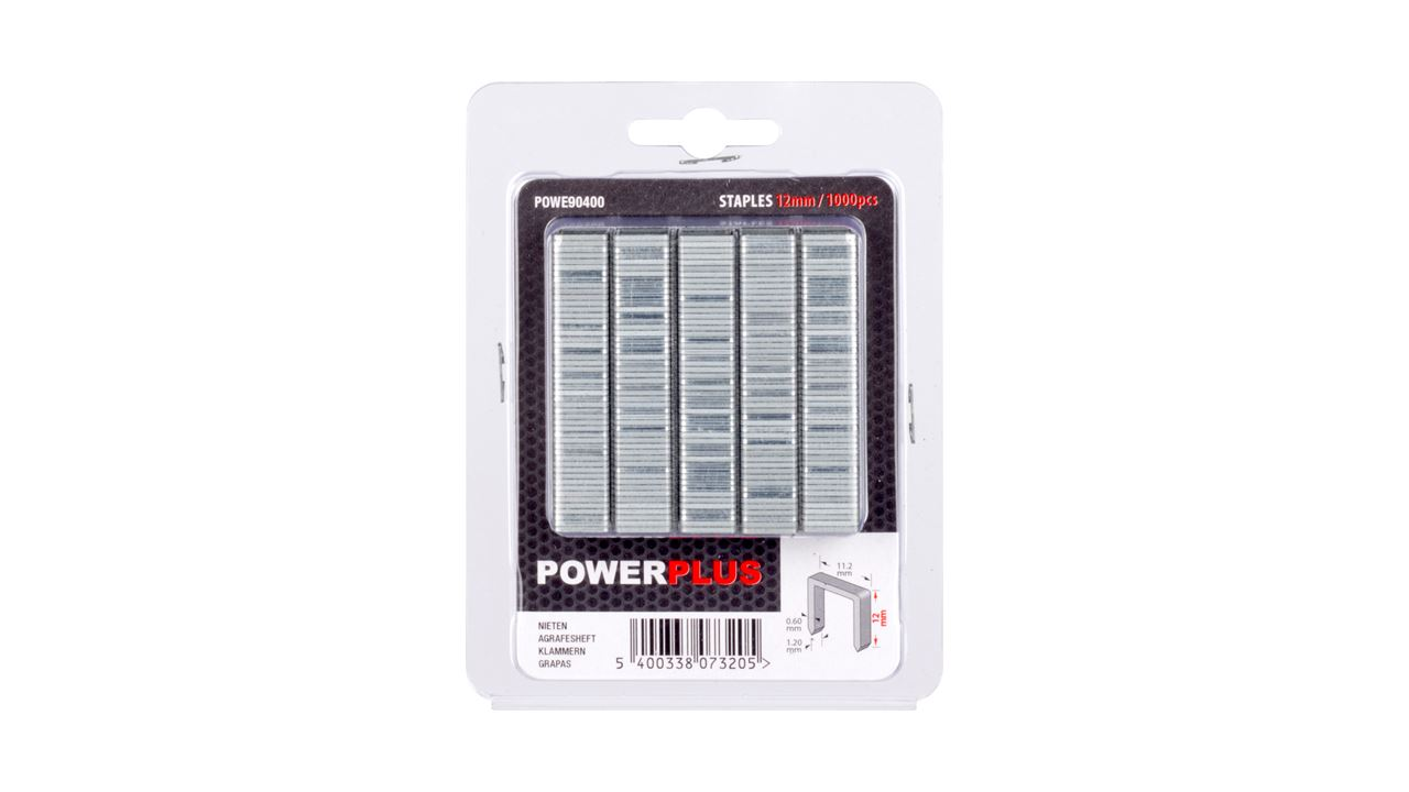 POWE90400 STAPLES 12MM POW735-736 1000X