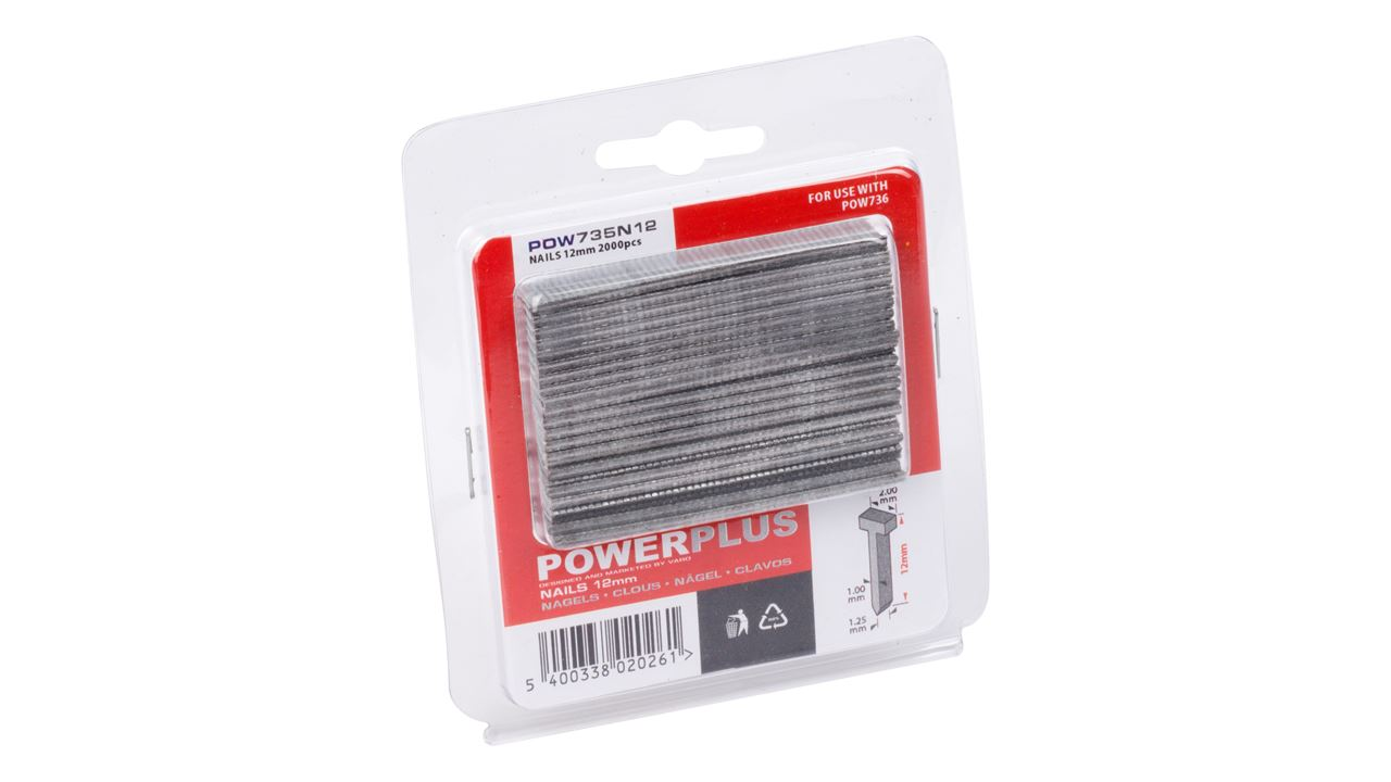 POW735N12 2000 NAILS 12mm FOR POW735/736