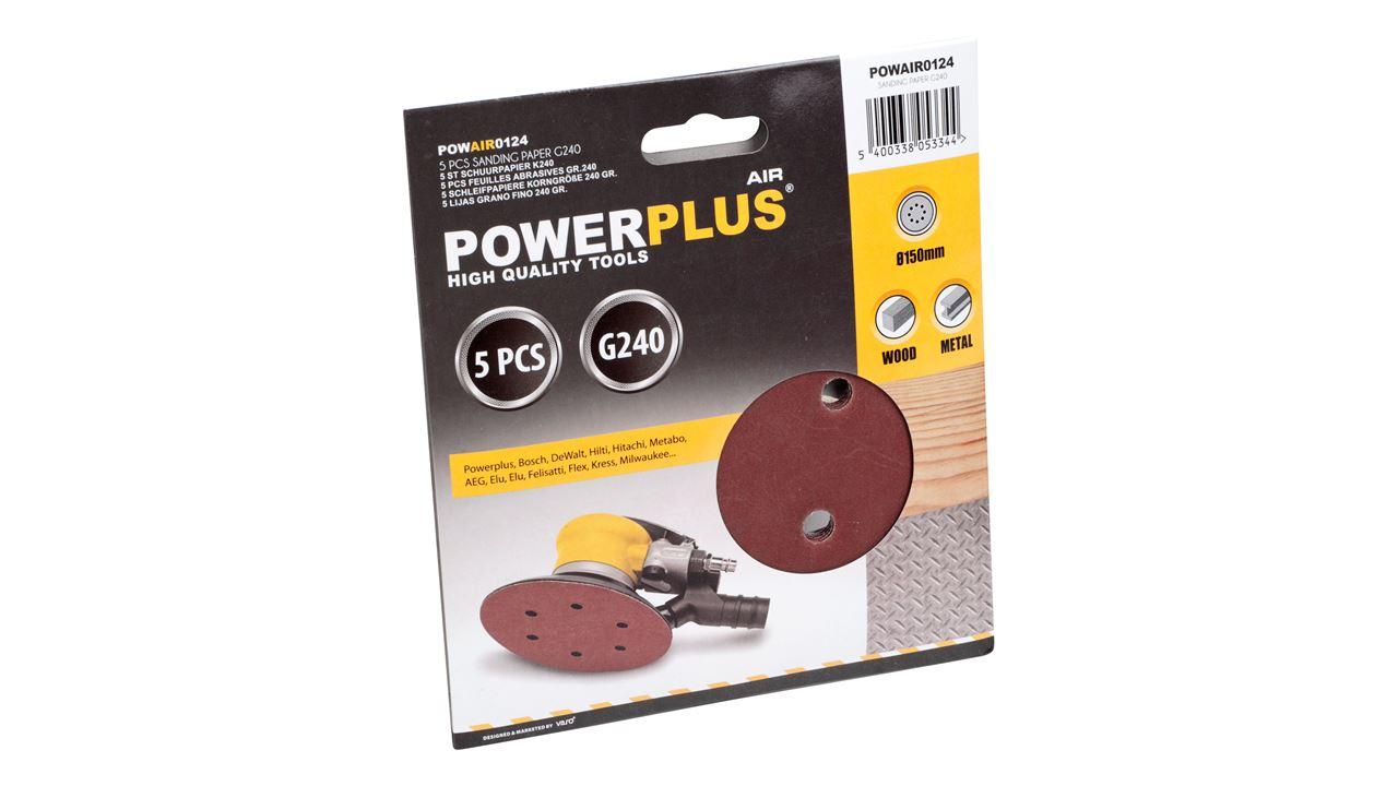 POWAIR0124 SANDING DISC Ø150mm G240 5PCS