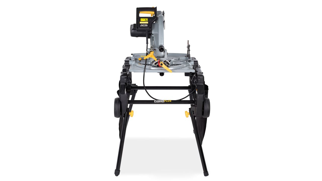 POWX07587 MITRE TABLE SAW FLIPOVER 2000W 254mm