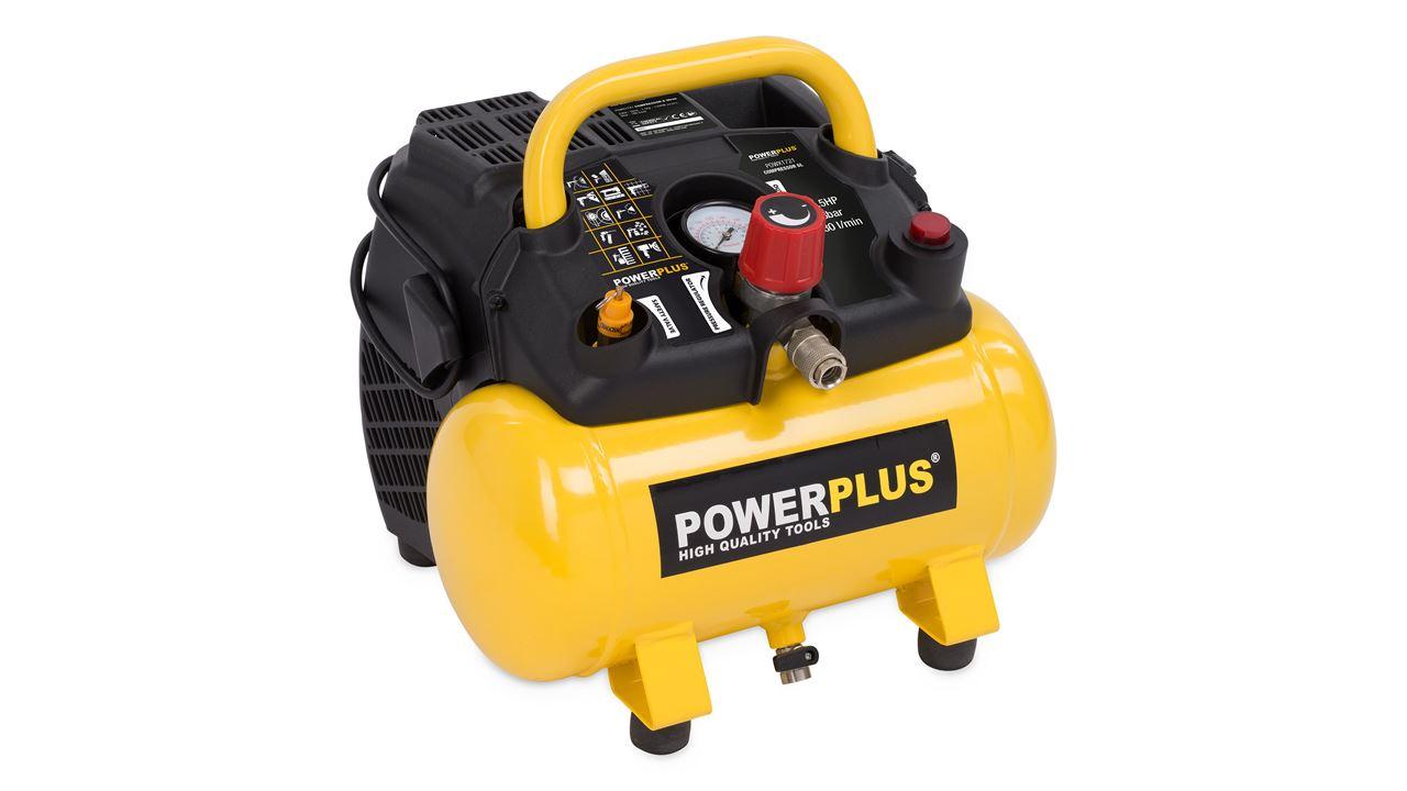 POWX1721 COMPRESSOR 1100W 6L NO OIL 1,5HP