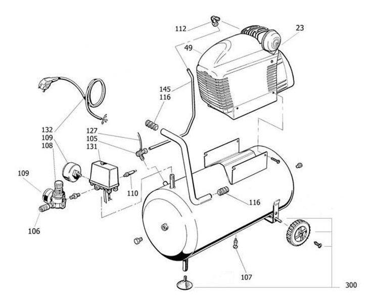 Powx1735 Compressor 1500w 24l