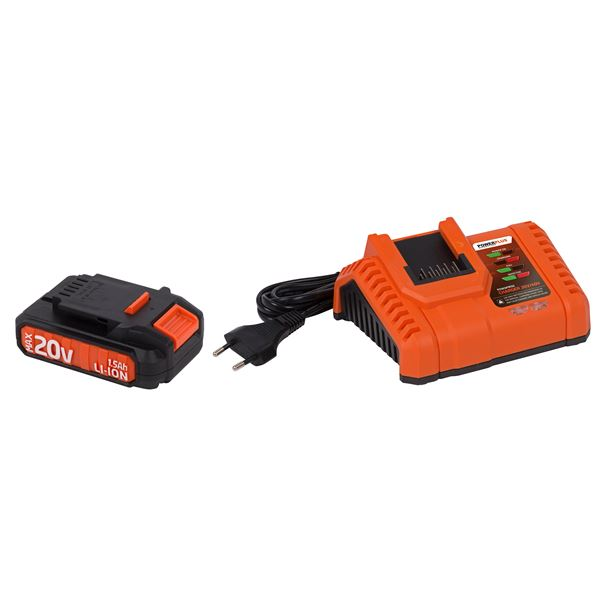 CHARGER 20V/40V + BATTERY 20V LI-ION
