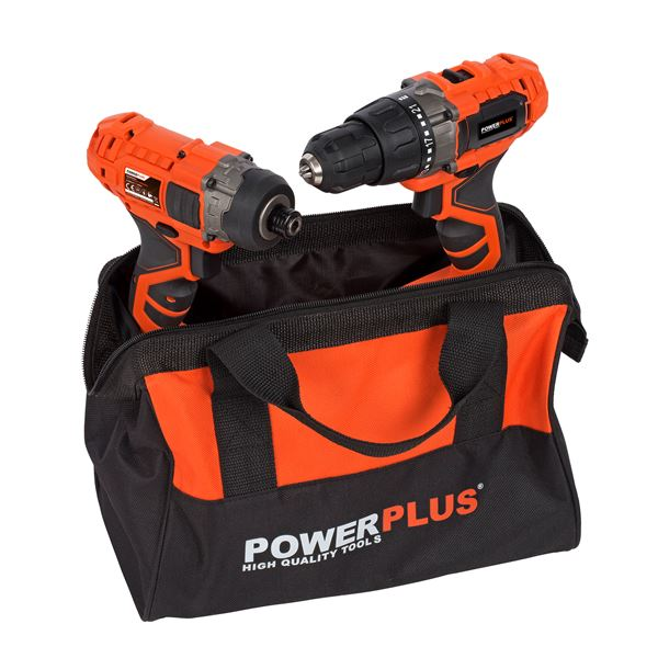 DRILL/SCREWDR20V+IMPACT SCREWDR20V+CHARGER+2x20V