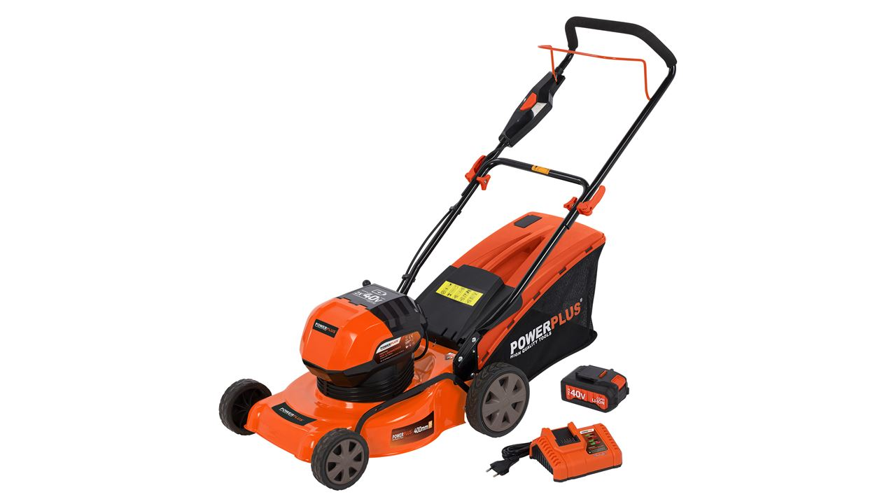POWDPG7567 LAWN MOWER 40V + CHARGER + 1XBATTERY 40V